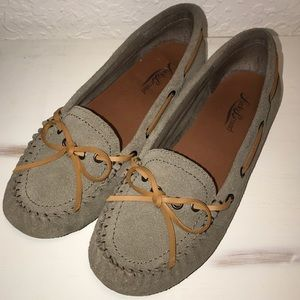Lucky Brand Abelle2 Suede Moccasins Sz 7